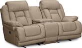 Living Room Furniture-Springer Wheat Dual Power Reclining Loveseat