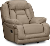 Living Room Furniture-Springer Wheat Glider Recliner