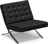 Living Room Furniture-Mirage Black Accent Chair