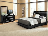 Bedroom Furniture-Prima II Black 5 Pc. Queen Bedroom