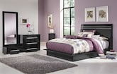 Bedroom Furniture-Prima II Black 5 Pc. Queen Bedroom (Alternate)