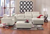 Living Room Furniture-The Reno White Collection-Reno White 2 Pc. Sectional