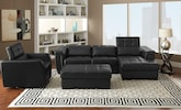 Living Room Furniture-The Reno Black Collection-Reno Black 2 Pc. Sectional