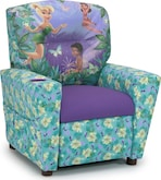 Living Room Furniture-Disney Fairies Child's Recliner