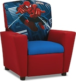 Living Room Furniture-Spider-Man Child's Recliner