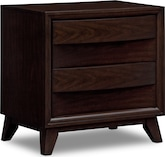 Bedroom Furniture-Cascade Merlot Nightstand