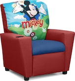 Living Room Furniture-Mickey Mouse Child's Recliner