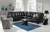 Living Room Furniture-The Garrett Onyx Collection-Garrett Onyx 2 Pc. Sectional