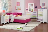 Kids Furniture-The Taylor Pink Collection-Taylor Pink Twin Corner Bed