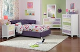 Kids Furniture-The Taylor Purple Collection-Taylor Purple Twin Corner Bed