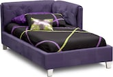 Kids Furniture-Taylor Purple Twin Corner Bed
