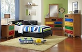 Kids Furniture-The Taylor Black Collection-Taylor Black Twin Corner Bed