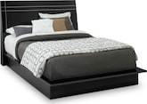 Bedroom Furniture-Prima II Black Queen Bed