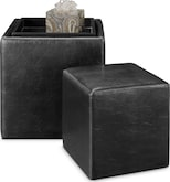 Living Room Furniture-Hamill Nesting Ottomans