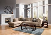 Living Room Furniture-The Hudson Cobblestone Collection-Hudson Steel Blue 2 Pc. Sectional