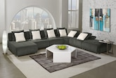 Living Room Furniture-The Avalon Collection-Avalon 6 Pc. Sectional