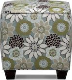 Living Room Furniture-Concord Chocolate Cube Ottoman