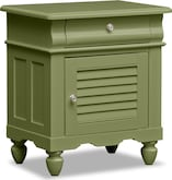 Kids Furniture-Mayflower Green Nightstand