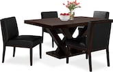 Dining Room Furniture-Reese Black 5 Pc. Dining Room