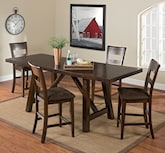 Dining Room Furniture-The Everett Collection-Everett Counter-Height Table