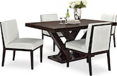 Dining Room Furniture-Reese White 5 Pc. Dining Room