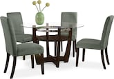 Dining Room Furniture-Daly Sage 5 Pc. Dinette