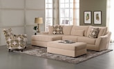 Living Room Furniture-The Orleans Cream Collection-Orleans Cream 2 Pc. Sectional