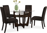 Dining Room Furniture-Daly Chocolate 5 Pc. Dinette