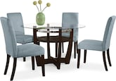 Dining Room Furniture-Daly Aqua 5 Pc. Dinette