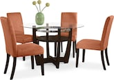 Dining Room Furniture-Daly Orange 5 Pc. Dinette