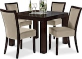 "Dining Room Furniture-Karmon Stone 5 Pc. Dinette (42"" Table)"