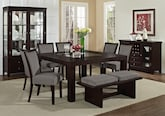 "Dining Room Furniture-The Karmon Gray Collection-Karmon 60"" Dining Table"