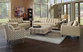 Living Room Furniture-The Highline Cream Collection-Highline Cream Sofa