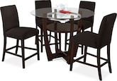 Dining Room Furniture-Daly II Chocolate 5 Pc. Dinette
