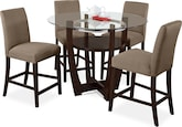 Dining Room Furniture-Daly II Beige 5 Pc. Dinette