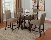 Dining Room Furniture-The Alcove Beige II Collection-Alcove II Counter-Height Table