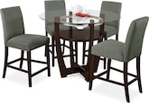 Dining Room Furniture-Daly II Sage 5 Pc. Dinette