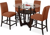 Dining Room Furniture-Daly II Orange 5 Pc. Dinette