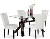 Dining Room Furniture-Vero White 5 Pc. Dinette