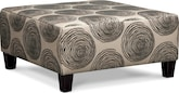 Living Room Furniture-Catalina Gray Cocktail Ottoman