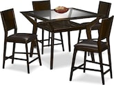 Dining Room Furniture-Devlin 5 Pc. Counter-Height Dinette