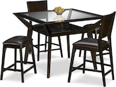 Dining Room Furniture-Devlin 5 Pc. Counter-Height Dinette w/ 2 Backless Stools