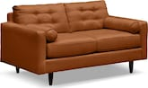 Living Room Furniture-Highline Tangerine Loveseat