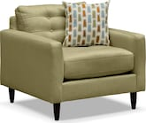 Living Room Furniture-Highline Green Chair