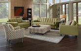 Living Room Furniture-The Highline Green Collection-Highline Green Sofa