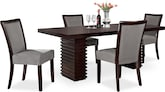 Dining Room Furniture-Costa Karmon Gray 5 Pc. Dinette