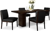 Dining Room Furniture-Costa Reese Black 5 Pc. Dinette