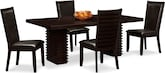 Dining Room Furniture-Costa Brown 5 Pc. Dinette