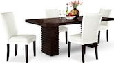 Dining Room Furniture-Costa Vero White 5 Pc. Dinette