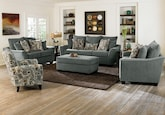 Living Room Furniture-The Albion Blue Collection-Albion Blue Sofa